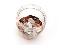 опарник монеток Стоковая Фотография