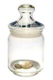 опарник монеток стоковая фотография rf