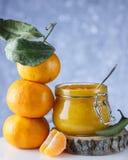 Опарник оранжевого мармелада Стоковая Фотография RF
