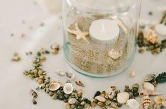 Опарник песка & раковин Стоковые Фотографии RF