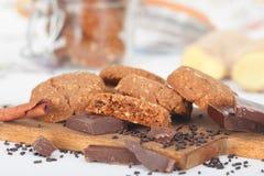 опарник печений печенья шоколада обломока Стоковые Фотографии RF