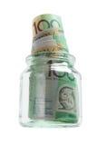 опарник стекла кредиток Стоковая Фотография RF