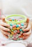 Опарник с конфетой Стоковая Фотография