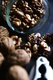 Опарник шутихи грецкого ореха грецких орехов Стоковая Фотография RF