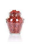Опарник ягод Goji на белизне стоковое фото