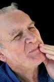 опасливый старший человека Стоковая Фотография