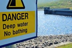опасная вода Стоковое Фото