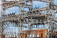Опасная высоковольтная подстанция электропитания VI Стоковые Изображения RF