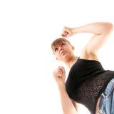 опасная женщина улицы самолет-истребителя Стоковые Изображения