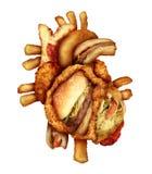 Опасная диета сердца иллюстрация штока