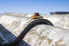 Опасная крыша азбеста Стоковая Фотография RF