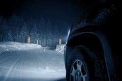 Опасная дорога зимы Стоковая Фотография RF