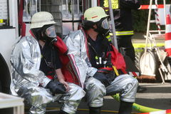 Опасная химическая авария в дорожном движении Стоковая Фотография