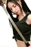 опасная шпага девушки Стоковое Фото