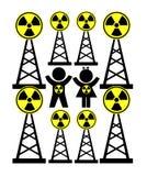 Опасное радиоактивное облучение Стоковая Фотография RF