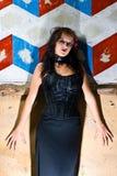 опасное goth девушки Стоковые Фотографии RF
