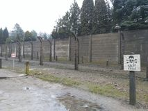 Опасности Освенцима стоковая фотография