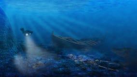 опасности подводные Стоковые Изображения RF