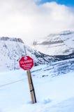Опасность лавины Стоковые Изображения