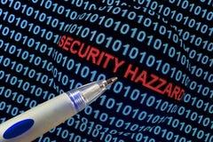 Опасность безопасностью в красном цвете Стоковая Фотография RF