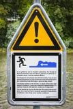 Опасность воды Стоковые Изображения