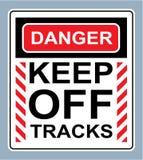 Опасность держит с вектора знака следов бесплатная иллюстрация