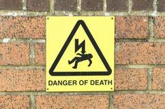 Опасность знака смерти, Великобритании Стоковые Фото