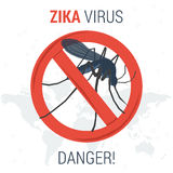 Опасность значка вируса Zika infographic иллюстрация штока
