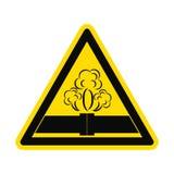 Опасность значка утечки трубы иллюстрация штока