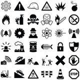 Опасность и предупреждающий значок Стоковые Изображения RF
