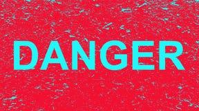 Опасность надписи на красной предпосылке grunge r иллюстрация штока