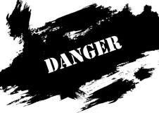 Опасность на краске grunge иллюстрация вектора