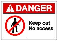 Опасность не держит вне никакой знак символа доступа, иллюстрацию вектора, изолят на белом ярлыке предпосылки EPS10 иллюстрация штока