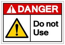 Опасность не использует знак символа, иллюстрацию вектора, изолят на белом ярлыке предпосылки EPS10 иллюстрация вектора