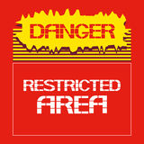 опасность ограниченная зона Стоковая Фотография