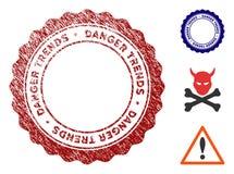 Опасность отклоняет водяной знак с влиянием Grunge иллюстрация штока