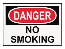 опасность отсутствие курить знака Стоковые Фотографии RF