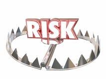 Опасность пассива опасности ловушки медведя слова риска иллюстрация вектора