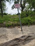 Опасность пляжа стоковые фотографии rf