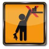 Опасность пожалуйста держит из достигаемости от детей иллюстрация штока