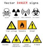 Опасность подписывает иллюстрацию вектора Стоковая Фотография RF