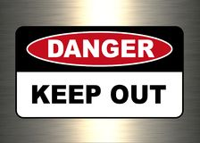Опасность, предупредительный знак иллюстрация штока