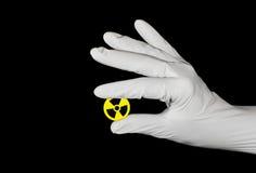 опасность радиоактивная Стоковое фото RF
