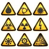 Опасность символов триангулярная предупреждающая иллюстрация вектора