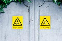 Опасность смерти Стоковое Изображение RF