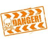 Опасность штемпеля с черепом Стоковое фото RF