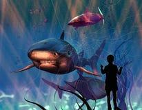 опасные акулы иллюстрация вектора