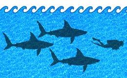 опасные воды Стоковое Изображение RF
