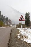 Опасный включите дорога горы Стоковые Фотографии RF
