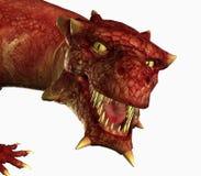 опасный портрет дракона иллюстрация вектора